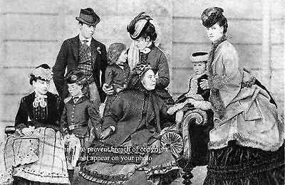 Photo Of Queen Victoria + Family Princess Of Wales Taken At Osbourne In 1869