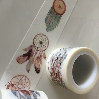 Washi Tape Wide Dreamcatcher 30Mm Wide X 5Mtr Roll Scrap Plan Craft Wrap