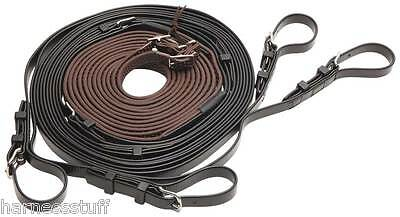 Zilco Driving Harness - R Grip Reins for Pair Pony, Cob, Full