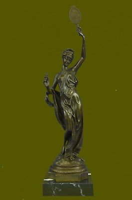 Ausrtia Vintage Pure Bronze Spelter Figure of a Dancer Snake Charmer Hot Cast