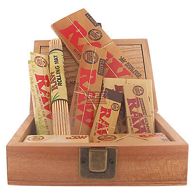 Raw Rolling Papers Gift Wooden Box Set - Multi Listing