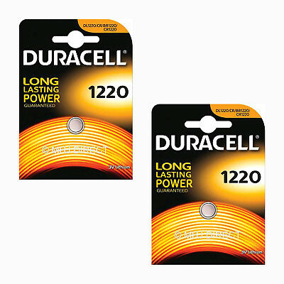 2 x Genuine Duracell CR1220 DL1220 Lithium 3v Batteries Coin Cell Use By 2026