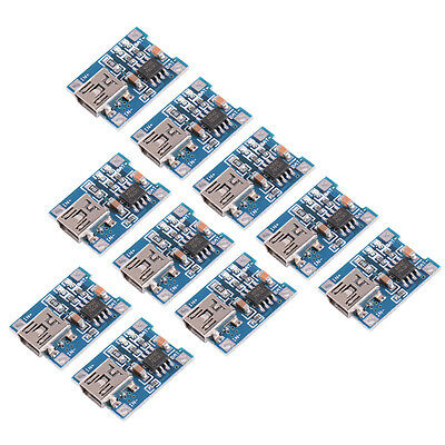 10x 5V Mini USB TP4056 Lithium Battery Charging Board Power Charger Module TE583