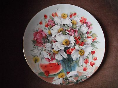 Wedgwood Display Plate Californian Tree Poppies Made in England
