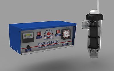 NEW MAPLEMATIC 30g SELF CLEANING SALTWATER CHLORINATOR