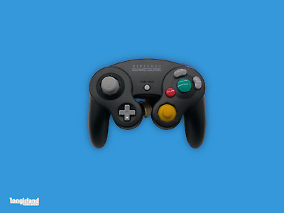 Official Original Gamecube Controller Black Original Nintendo OEM Genuine Wii
