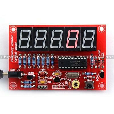 Crystal Oscillator Frequency Counter Meter 1Hz-50MHz Digital LED PIC DIY Kits CF