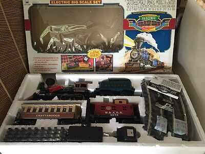 NEW In Open Box Electric Train Set By New Bright No.376 Big Scale Set in Box (X)