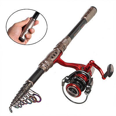 Telescopic Carbon Fishing Rod and Reel Combos Set Saltwater Freshwater Rod Kit