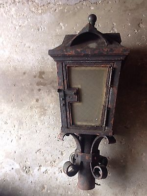 Antique 149lb Lantern Style Light From Crane Building Chicago Cast-Iron Original