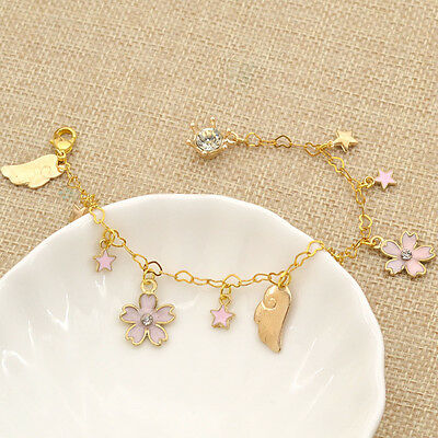 Bracelet Pendant Star Card Captor Sakura Kawaii Lovely Japanese Anime Gift Pink