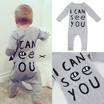 Infant Newborn Baby Boy Girl Kids Cotton Romper Jumpsuit Bodysuit Clothes Outfit