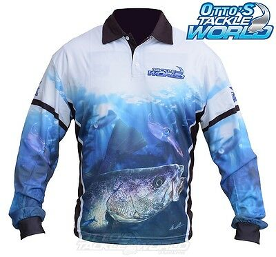 Tackle World Mulloway 2016 Long Sleeve Fishing Sun Shirt BRAND NEW at Otto's