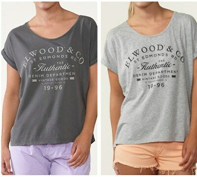 Special Elwood Womens Loose Fit Oversize Tee Casual S/Sleeve Tee Shirt All Size