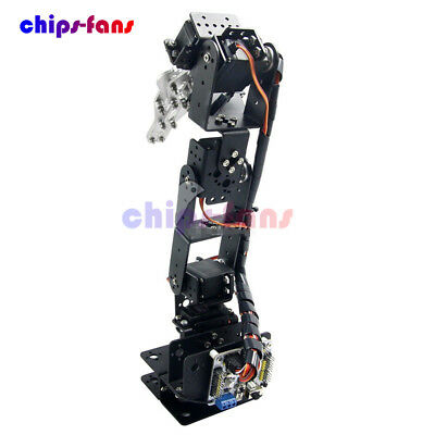 6 DOF Aluminium Arm Clamp Claw Machinery Mechanical Robot Arduino Control Kit