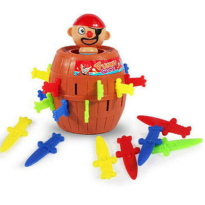 Pirate Barrel Game Toy Funny Lucky Stab Pop Up Toy Christmas Gift For Kids