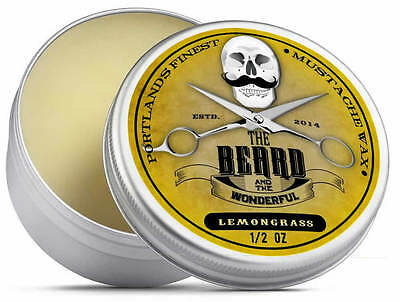 Lemongrass Moustache Wax (15ml) Premium Strong for styling, twists & curls