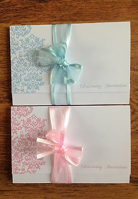 Personalised Christening/Naming Day Invitations,Pink or Blue boy/girl,Free Rsvps