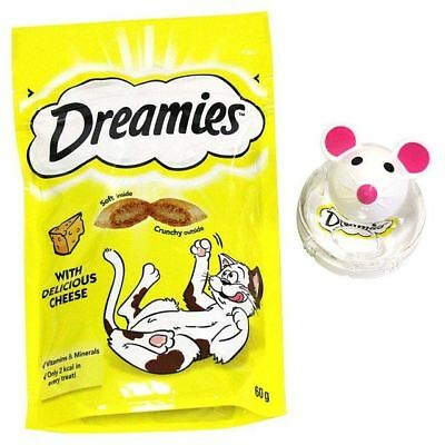 Dreamies Snacky Mouse Cat Toy Cheese 60g