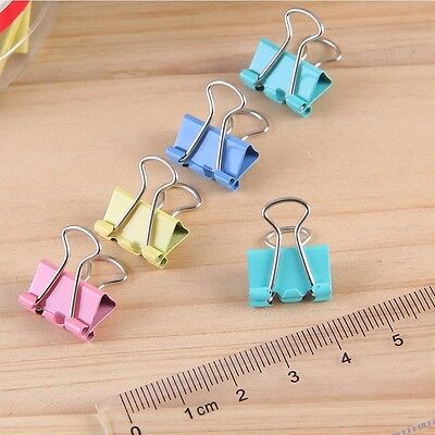 10Pcs Binder Clip 19mm Firm Metal Classic Office Stationery Paper Documents Clip