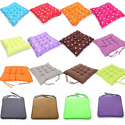 COMFORTABLE Chair Cushion Seat Pads TIE ON Garden Dining Table Kitchen MODERN!!!