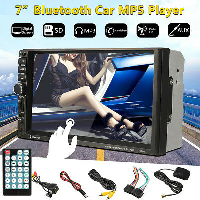 In Dash Bluetooth 7'' HD 2 DIN Head Unit GPS Car MP3 MP5 Player Stereo FM Radio