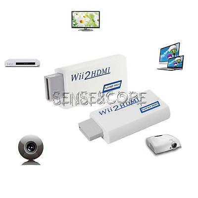 NEW Wii to HDMI 480p Converter Adapter for Wii2hdmi 3.5mm Audio Box Wii-link