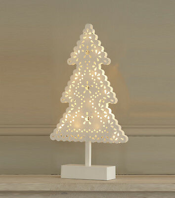 Light Up LED Christmas Tree Warm Lights Mantle Piece Xmas Freestanding