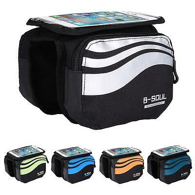 Fashion Bicycle Cycling 5.7 inch Front Tube Touch Screen Phone Bag Holder Pouch