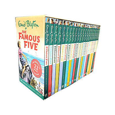 Enid Blyton The Famous Five 22 Books Collection Box Set New Paperback