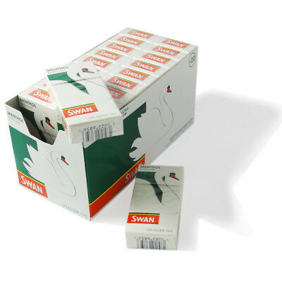 Half Box 10 X 120 Swan Menthol Extra Slim Cigarette Filter Tips