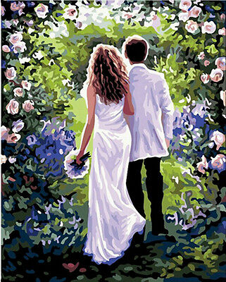 """DIY Paint By Number 16""""*20"""" Kit Forever With You On Canvas With Nice Box"""