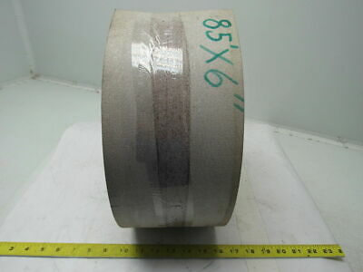 """3 Ply White Rubber Smooth Top Conveyor Belt 85' X 6"""" X 0.135"""""""