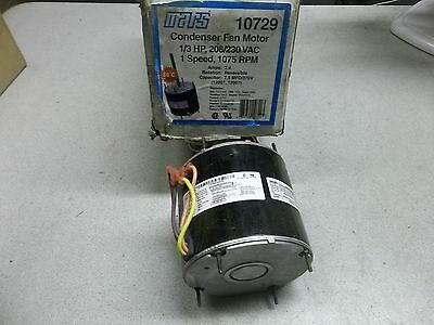 NEW Mars Condenser Fan Motor 10729, Single Speed *FREE SHIPPING*