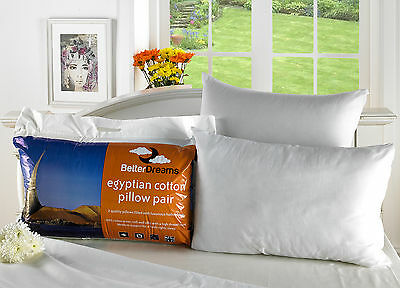 Hotel Quality Pillows Luxury Egyptian Cotton Pillows 2,4,6,8 and 10 Packs