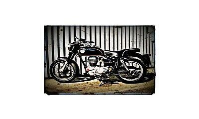 1960 royal enfield clipper Bike Motorcycle A4 Photo Poster