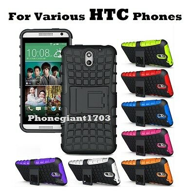 Shock Proof Heavy Duty Armour Hybride Case Cover For Various HTC Desire Phones