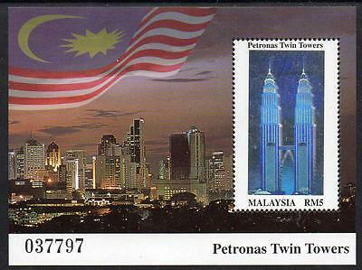 MALAYSIA MNH 1999  Completion of Petronas Twin Towers Building