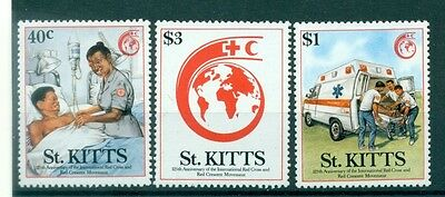 CROIX ROUGE - INTERNATIONAL RED CROSS 125th ANN. ST. KITTS 1989