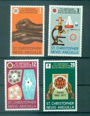 SCIENCE - ST. KITTS/NEVIS/ANGUILLA 1977 PAHO 75th Anniv.