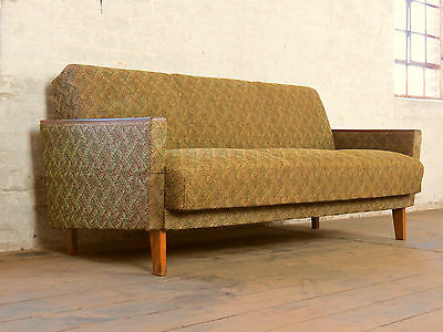 Mid century retro club sofa daybed chaise bed couch for Sofa bed 50s