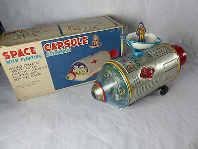 T.M. Space Capsule Apollo Space Toy Tin Toy  1960's  in Box  Made in Japan -