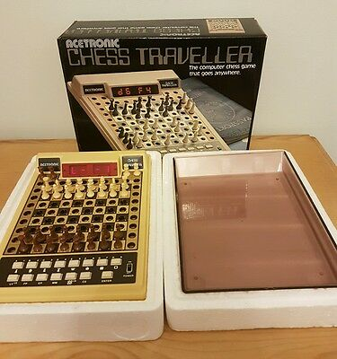 Vintage Electronic Chess Traveller Game by Acetronic Boxed (d2)