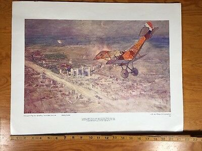 Nieuport Fighter World War I Fighter Us Air Force Art Collection Print 1969