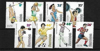 Samoa 1983 South Pacific Games, Sg639/46, Unmounted Mint