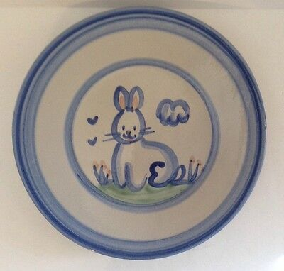 M.A. Hadley Hand Painted Bunny Luncheon Plate 8-7/8""