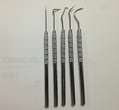 Vinyl Weeding Pick Tools 5pc Stainless Steel Professional Sign / Signmaking