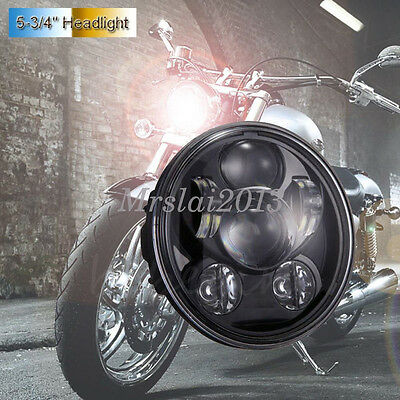 "1XBlack Motorcycle 5.75"" 5-3/4'' H/L LED Daymaker Projector Headlight For Harley"
