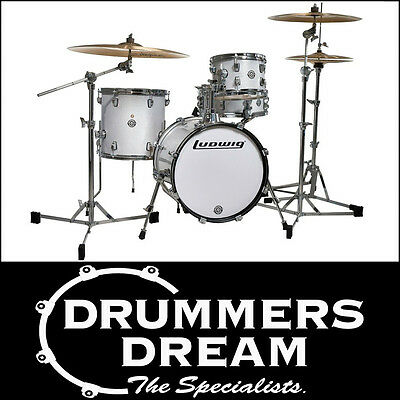 Brand New Ludwig Breakbeat By Questlove 4 Piece Drum Shell Kit - White Finish