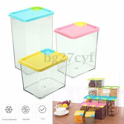 530/800/1070ml Kitchen Food Cereal Grain Bean Rice Storage Container Sealed Box